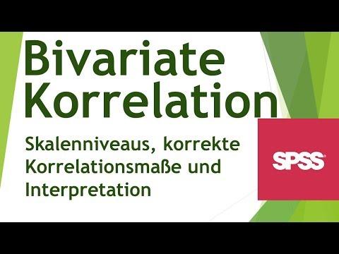 Bivariate Korrelation in SPSS (Skalenniveau+korrekte Korrelationsmaße) -Daten analysieren in SPSS(8)