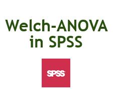 Welch-ANOVA in SPSS durchführen
