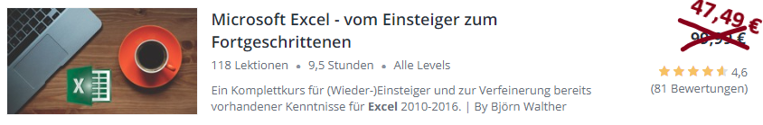 Excel Udemy