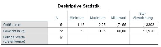 Deskriptive Statistik SPSS