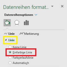 Punkte zu Linie Excel