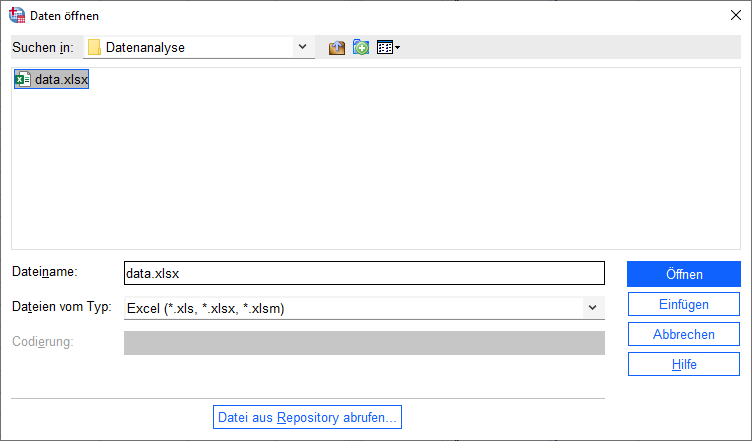 Excel Import SPSS
